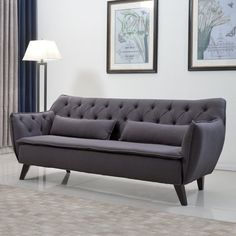 Find a couch, sofa or loveseat that suits your needs and fits perfectly in your home. At Wayfair, we carry Zillions of couch styles to fit any home's decor. Grey Tufted Sofa, Sofa Couch, Sofa Set, Couches, Grey Sofas, Living Room Sofa, Living Room Furniture, Modern Furniture, Sofa Furniture
