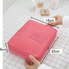 Amazon.com: JIARUO Multi-function Makeup Cosmetic Bag Toiletry Travel Kit Organizer (watermelon red): Shoes