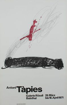 Available for sale from Sylvan Cole Gallery, Antoni Tàpies, untitled Poster with original lithograph, 90 × 53 cm Best Weave, Spanish Painters, Art Forms, Contemporary Art, Poems, Artsy, Ebay, Artwork, Poster