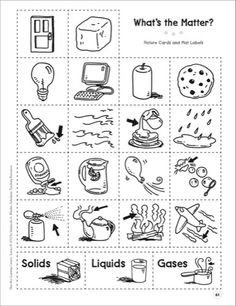 Solids And Liquids Worksheet Preschool. Solids. Best Free ...