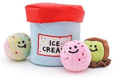 Kitchen & Dining : Kelong Pet Dog Squeaky Hide and Seek Plush Toys Set, Chic Ice-Cream Shape Dog Interactive Toys, Snuffling Feeder Toys for Dogs Reducing Boredom : Amazon.com Kong Dog Toys, Pet Toys, Best Dog Toys, Interactive Dog Toys, Pet Supply Stores, Dog Store, Dog Shampoo, Dog Carrier, Pet Supplies