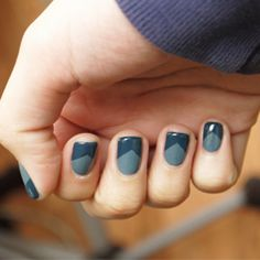 A tutorial on how easy it is to get perfect, uniform reversed v-tips on your nails. Check it out!