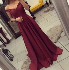 Off The Shoulder Prom Dress, Simple Party Dress Long, Burgundy Prom Dress,  Long Prom Dresses,2017 Prom Gown sold by SheDress. Shop more products from SheDress on Storenvy, the home of independent small businesses all over the world.