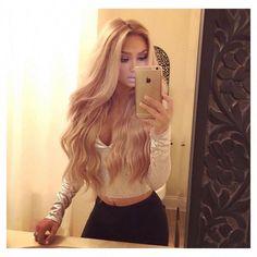 // ↠ @stonedgaga ▲↞ #worthtotry Blonde Beauty, Hair Beauty, Blonde Wig, Ash Blonde, Lace Hair, Silky Hair, Clip In Hair Extensions, Gorgeous Hair, Textured Hair