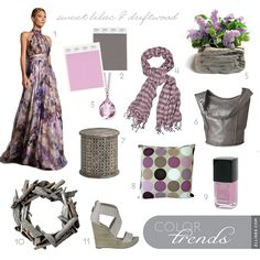 Sweet Lilac and Driftwood - love this color palette.