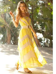 Pineapple Shake inspiration from @SaveAtHomeMommy #summerofshakes  Beach Dress