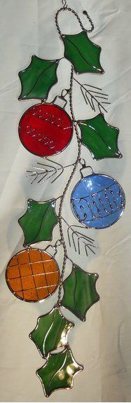 Stain Glass Christmas Ornaments Scroll | Home & Garden, Home Décor, Suncatchers & Mobiles | eBay!