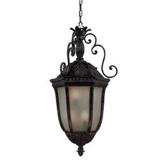 @Overstock.com - Hanging Lantern 6-light Outdoor Marbleized Mahogany Light Fixture - This Renaissance collection 6-light hanging lantern is made primarily of non-metallic polyresin material. This assures that this lantern will not rust, tarnish or corrode. The antique look of Italy's famous scavo glass embellishs this lantern.  http://www.overstock.com/Home-Garden/Hanging-Lantern-6-light-Outdoor-Marbleized-Mahogany-Light-Fixture/8300480/product.html?CID=214117 $328.99
