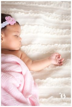 Three months old baby girl photography