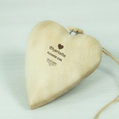 Personalised Wooden Wedding Heart Decoration - Heart Design Photo 2