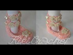 Πλεκτα Καλοκαιρινα Παπουτσακια  Crochet Summer Booties Tutorials. Βελονάκι  Για ΜωράΒρεφικά ... 426a1ce5111