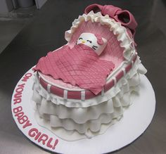 Great Hello Kitty Baby Shower Cake (right View)