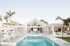 Three Birds Renovations - Bonnie's Dream Home - Outdoor Living - Pool Luxury Home Accessories, Style Blanc, Living Pool, Outdoor Living, Indoor Outdoor, Three Birds Renovations, Home Renovations, Small House Renovation, Pool Colors