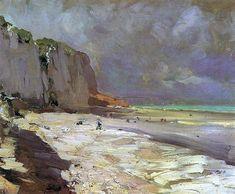 bofransson:    Konstantin Korovin  Beach at Dieppe, 1890