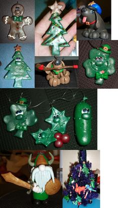 Polymer Clay Christmas Ornaments- 2009