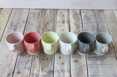 colourful cups