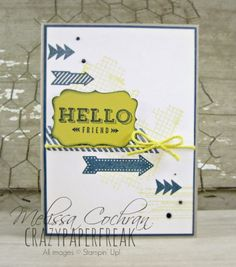Stylin' Stampin' INKspiration ~ May Color Cardstock ~ Crumb Cake, Midnight Muse, Summer Starfruit, Very Vanilla  Ink ~ Midnight Muse, Summer Starfruit  Stamp Sets ~ Hello Lovely, Gorgeous Grunge, Off the Grid, Peachy Keen  Tools ~ Dimensionals, Anywhere Glue, Glue Dots, Decorative Label punch  Embellishments ~ Summer Starfruit twine (Sale-a-Bration catalog), Crystal EffectsChallenge
