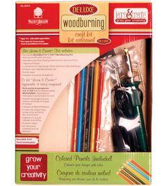 Walnut Hollow Deluxe Woodburning Kit: wood crafts: crafts: Shop | Joann.com