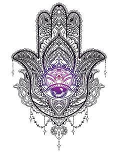 Hand drawn Ornate amulet Hamsa Hand of Fatima. Ethnic amulet common in Indian, A… Hand drawn Ornate amulet Hamsa Hand of Fatima. Ethnic amulet common in Indian, Arabic and Jewish cultures. Hamsa Hand Tattoo, Hand Tattoos, Diskrete Tattoos, Hamsa Tattoo Design, Hamsa Art, Yoga Tattoos, Body Art Tattoos, Tattoo Designs, Hamsa Design