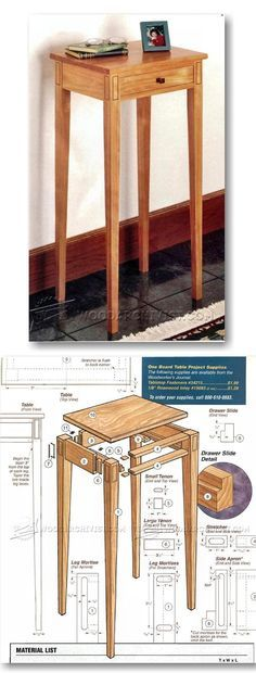 "Build Hall Table - Furniture Plans and Projects | <a href=""http://WoodArchivist.com"" rel=""nofollow"" target=""_blank"">WoodArchivist.com</a>"