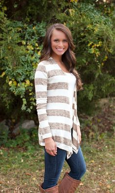 The Pink Lily Boutique - Easy Breezy Taupe Cardigan, $34.00 (http://thepinklilyboutique.com/easy-breezy-taupe-cardigan/)