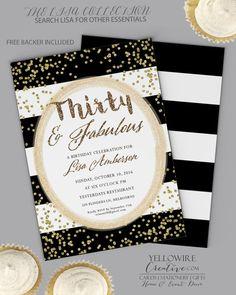 30th Birthday Invitation dirty thirty  30th by GoldenGoosePaper