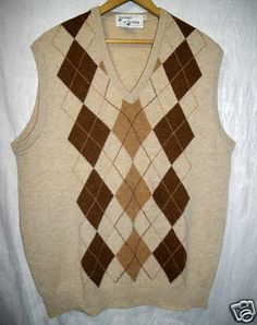 Tan Gray Basketweave Sweater Vest Mens XXL Arrow Business f203 ...
