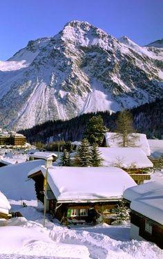 Arosa, winter in Switzerland