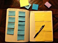 Un Kanban ne va pas nécessairement sur un tableau blanc Budget Organization, Paper Organization, Organizing, Planner Tips, Planner Pages, Time Management Planner, Project Management, Day Planners, Personal Planners