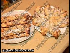 Blätterteig mit Nussfüllung - YouTube French Toast, Muffin, Chicken, Breakfast, Cake, Youtube, Food, Ice, Kaffee