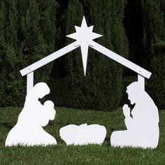 Outdoor Nativity Store Silhouette Outdoor Nativity Set - Holy Family Yard Scene