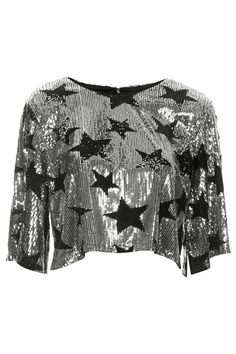 **Sequin Star Crop Top by Rare