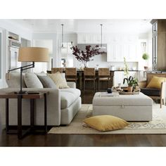 """Shop Lounge II 93"""" Sofa.   Slim, modern track arms lighten the look and provide maximum sitting space, upholstered in a soft, high-performance fabric that can stand up to almost anything a kid or pet can challenge it with."""