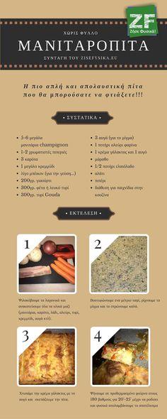 Συνταγή: Μανιταρόπιτα χωρίς φύλλο! | by zisefysika.eu