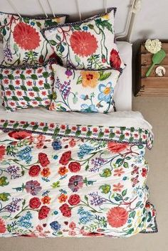 Nathalie Lete Tuileries Quilt #anthrofave #anthropologie