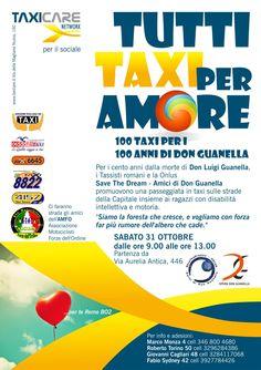 100 Taxi per i 100 anni di Don Guanella Passeggiata per le vie di Roma con i ragazzi disabili ospiti delle Case S Giuseppe e S. Maria
