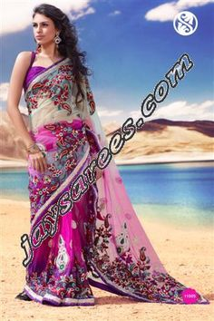 EXCHANDING DREAM DIVA SAREES,    HEAVY ZARDOZI AND ZARKAN STONE WORK ON GEORGETTE AND NET MIS GABRIC    JALL OF BEED AND SEQUENCE DONE ALL OVER THE SAREE    SAREE LENGH 6.30 MTR - INCLUDING BLOUSE PCS