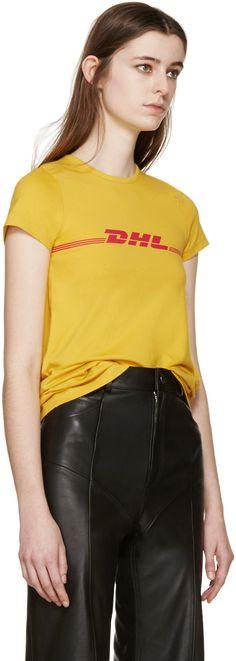 Vetements | Yellow DHL T-Shirt | SSENSE