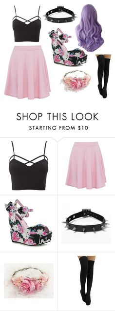"""pastel goth"" by paige-the-unicorn ❤ liked on Polyvore featuring Charlotte Russe, Iron Fist and plus size clothing"