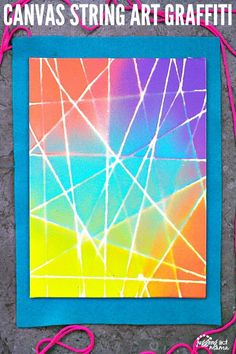 Canvas String Art Graffiti from Juggling Act Mama.  Kids would love working on this project!