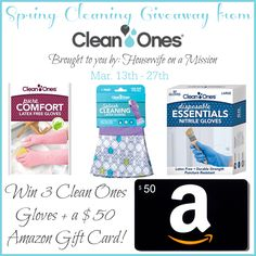 Welcome to the Clean Ones spring cleaning giveaway sponsored by Clean Ones and hosted by Housewife on a Mission!  Spring is in the air and we are all ready for some beautiful, warmer weather. We've joined in with some great bloggers to share this awesome Spring Cleaning giveaway with you. Spring is almost here …