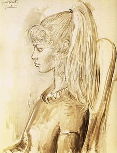 Pablo Picasso. Portrait of Sylvette David 23, 1954