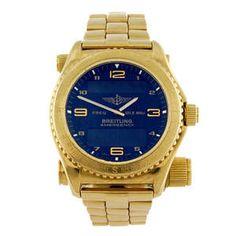 LOT:10   BREITLING - a gentleman's Professional Emergency bracelet watch.