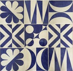 """The decorations of Giò Ponti """"Blu Ponti"""" of the Parco dei Principi hotel in Sorrento the Textile Patterns, Color Patterns, Print Patterns, Tile Design, Pattern Design, Gio Ponti, Repeating Patterns, Mosaic Tiles, Surface Design"""