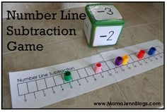 A Place Called Kindergarten: Teaching subtraction and how to use a number line to solve subtraction equations