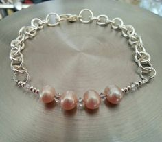 Hey, I found this really awesome Etsy listing at https://www.etsy.com/listing/223426413/pretty-pearl-and-chain-bracelet