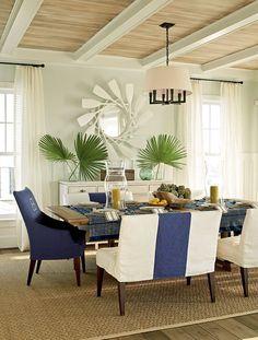 Coastal Dining Room Ideas  | Discover more at: www.homedecorideas.eu #luxuryfurniture #interiordesign