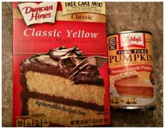 2 ingredient pumpkin cupcakes w. Ww Desserts, Delicious Desserts, Dessert Recipes, Yummy Food, Pumpkin Cupcakes, Pumpkin Dessert, Pumpkin Bread, Pumpkin Spice, Spice Cake Mix
