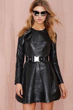 Nasty Gal Really Got Me Dress - Black Lamé