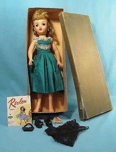 "FABULOUS 1950s - 18"" Ideal Miss Revlon Doll VT-18 IN ORIGINAL BOX & MORE"